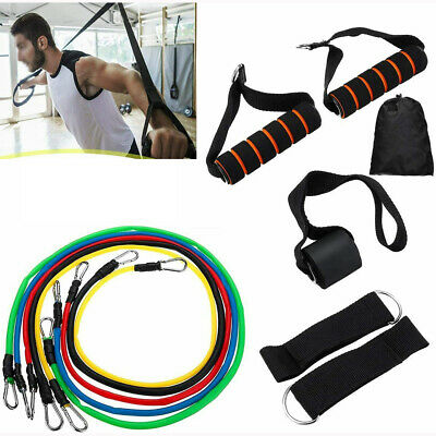 AU7.98 • Buy Latex Yoga Strap Resistance Bands Elastic Exercise Home Gym Tube Fitness - AUS