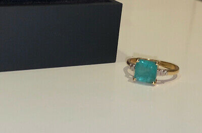 £920 • Buy 18ct Gold Colombian Emerald And Diamond Ring 2.45 Carat