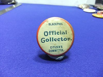 £8 • Buy Tin Badge Charity Blackpool Citizens Committee Official Collector Appeal 1940s