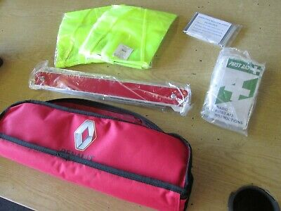 £6.99 • Buy RENAULT CAR Safety Pack Incl First Aid Kit WARNING TRIANGLE ETC