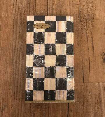 $10 • Buy Mackenzie Childs Courtly Check Guest Paper Napkins