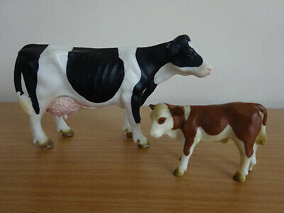 £6.99 • Buy Schleich Cow And Calf Figures Farm Animal Cattle Retired