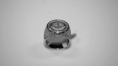 £29.99 • Buy 925 Mens Sterling Silver CZ Pinky Ring, Size 9