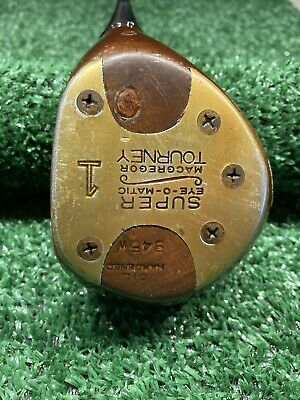 $45 • Buy RARE MacGregor Golf TOURNEY EYE-O-MATIC 925W TOMMY ARMOUR Persimmon DRIVER Right