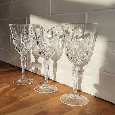 £19 • Buy Three Water Goblet Glasses - Royal Crystal Rock - Overture Pattern