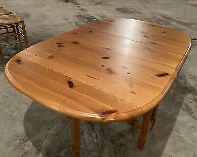 £60 • Buy Pine Oval Drop Leaf Gate Leg Kitchen/dining Table