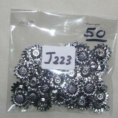 £0.99 • Buy 50 (approx) Silver Coated Sunflowers W: 1.5cm  Approx J223