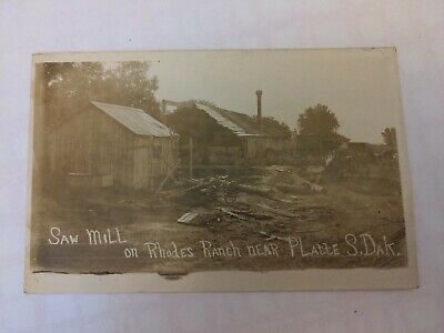 $19.99 • Buy Saw Mill Horse Wagons On Rhodes Ranch Near Platte, SD RPPC Early 1900s RPPC