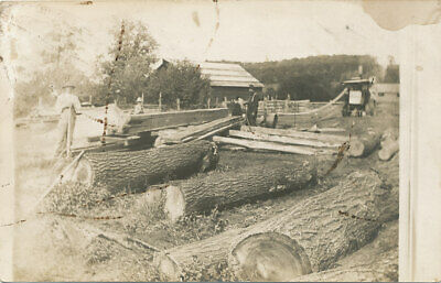 $10.99 • Buy Steam Tractor Powered Lumber Mill  RPPC  Ca. 1908  Sawing Logs