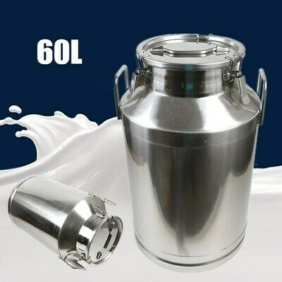 $131.01 • Buy Heavy-gauge Stainless Steel 60L Milk Can Silicone Seal For Heavy Restaurant Use