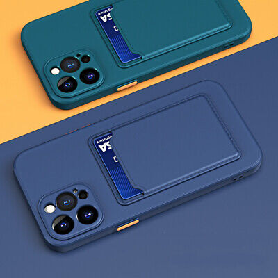 AU4.33 • Buy For IPhone 11 12 Pro Max XS XR 8 7 Plus Shockproof Card Slot Silicone Case Cover