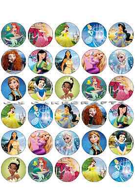 £3.95 • Buy 30X DISNEY PRINCESS Edible Cup Cake Toppers ICING Sheet Birthday Cake Party