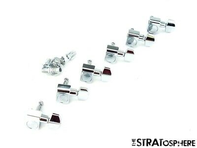 $ CDN4.09 • Buy 6 Fender Player Strat TUNERS TUNING PEGS, Stratocaster *Chrome Guitar Part