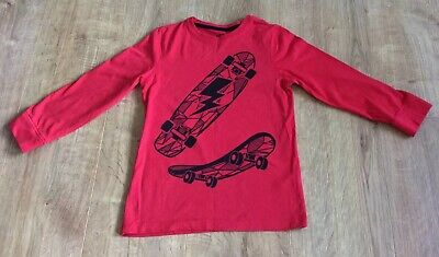 £2.50 • Buy Blue Zoo Red Skateboard Top, Long Sleeves, 100% Cotton - Age 6-7 Years