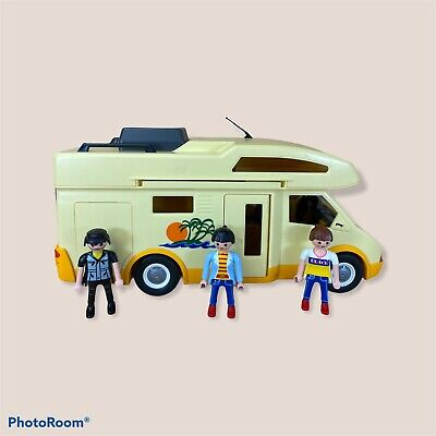 £16.50 • Buy Playmobil 3647 Holiday Family Camper Van Motor Mobile Home 2005 With 3 Figures