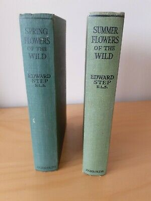 £14.99 • Buy Circa 1933  Spring And Summer Flowers Of The Wild By Edward Step F.L.S   2 BOOKS