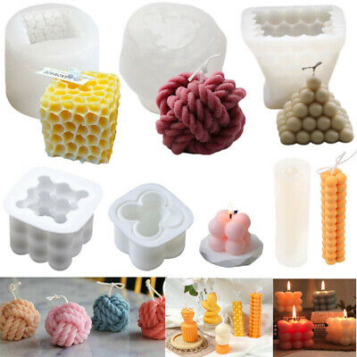£11.45 • Buy  3D Candle Mold DIY Perfume Soap Candles Making Wax Silicone Moulds Handmade DIY