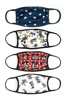 £7.49 • Buy New Official Disney Store Pack Of 4 Mickey Minnie Cloth Face Coverings Masks - S