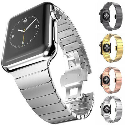 $ CDN20.76 • Buy Stainless Steel Link Band Strap For Apple Watch Series 6 5 4 3 IWatch SE 40/44mm