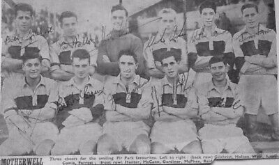 £14.99 • Buy Motherwell F.c. Vintage Autographed Team Picture Late 1950s