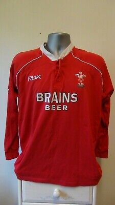 £9.99 • Buy Wales Home Rugby Union Shirt Jersey 2003-2004 Medium 38/40