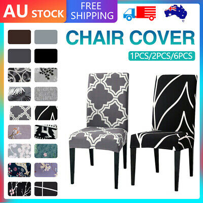 AU26.59 • Buy Stretch Dining Chair Covers Slipcover Spandex Wedding Cover 1/4/6/8Pcs Removable