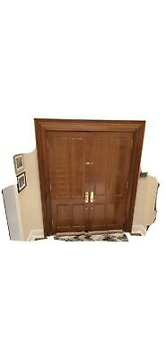$450 • Buy Double Entry Mahogany Front Door SolidWood 72 W By96 H