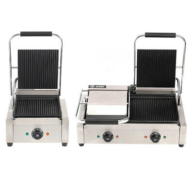 £199.95 • Buy Panini Press Electric Grill Sandwich Toast Waffle Maker Griddle Commercial Steel