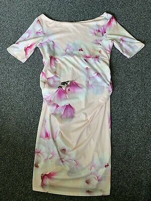 AU5.61 • Buy Size 10 Maternity Summer Dress Pink Short Sleeve From Asos Worn Once