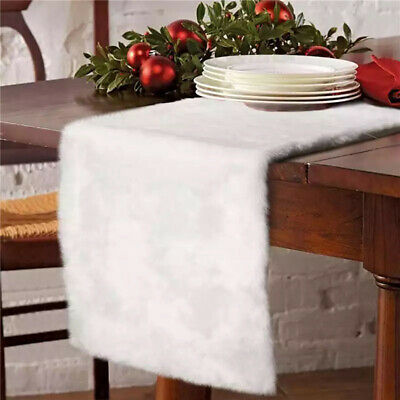 AU17.85 • Buy Plush Table Runner Simple Home Dining Room Mat Tablecloth Cover Decoration FA