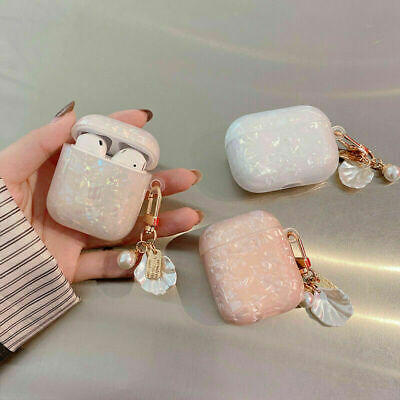 AU10.99 • Buy For Apple AirPods Pro 1 2 3 Case Luxury Glitter Case Pearl Shell +Keychain Cover