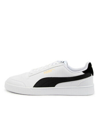 AU90 • Buy New Puma Shuffle White Black Gold Mens Shoes Casual Sneakers Casual