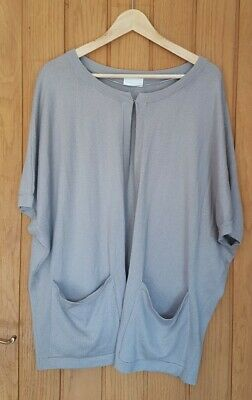£0.99 • Buy THE WHITE COMPANY Grey WOOL COTTON Open CARDIGAN JACKET TOP Size M 10 12 14
