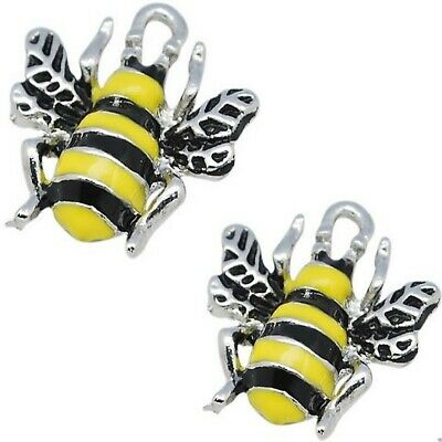 £2.20 • Buy Enamel Bee Charms Bumble Pendant Pack Of 5