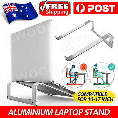 """AU17.65 • Buy Portable Aluminium Laptop Stand Tray Holder Cooling Riser For 11""""-17"""" MacBook"""