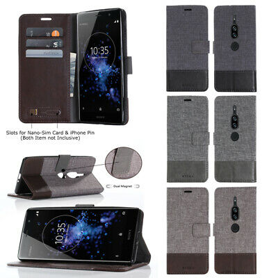 AU7.46 • Buy Canvas Stand Flip Wallet Phone Case For OPPO A72 A53 A92 A83 Reno 4 Pro A71 R9S