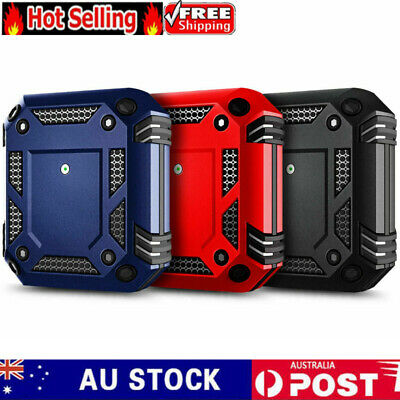 AU12.99 • Buy Heavy Duty Armor Cover + Keychain Clip For Apple AirPods 1/2 & Pro Case