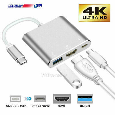 $10.99 • Buy USB Type C To HDMI HDTV TV Cable Adapter Converter Hub For Macbook Android Phone