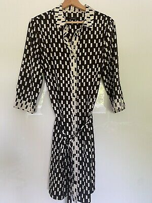 £11.50 • Buy M&S - MARKS AND SPENCER - AUTOGRAPH - Black & Cream Shirt Dress - Size 14
