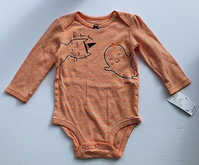 £1.45 • Buy NWT Carter's 9 Month Halloween Ghost Cat Orange Striped One Piece