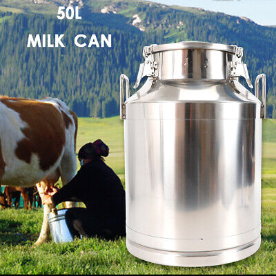 $108.31 • Buy Stainless Steel Container Milk Can Wine Pail Honey Barrel 50L/13.25Gallon SALE!