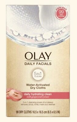 AU35.52 • Buy Olay Daily Facials Water-Activated Dry Cloths, 99 Ct.