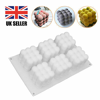 £5.99 • Buy DIY 3D Silicone Candle Moulds Soy Soap Aromatherapy Candles Wax Plaster Mold