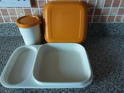 £8.50 • Buy  Vintage Tupperware Lunch Mates Box Tray With Cover And Lidded Beaker