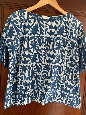 AU30 • Buy Gorman Wax Print Top Size 8 - Will Fit Up To 12 - Flared 1/2 Sleeve