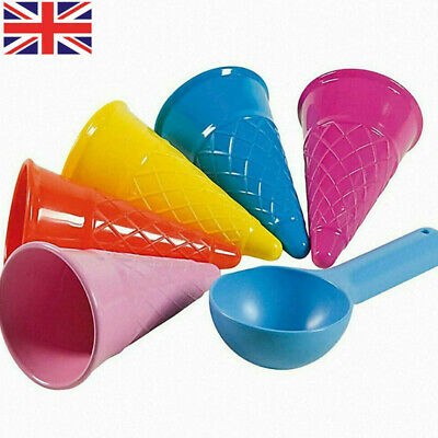 £4.69 • Buy 5Pcs Kids Beach Toys Ice Cream Cone Scoop Toy Spade Play Set Sand Castle Outdoor