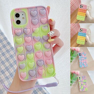 AU9.56 • Buy For IPhone 12 Pro Max 11 XS XR 8 7 Plus Cute Pop Bubble Silicone Soft Case Cover