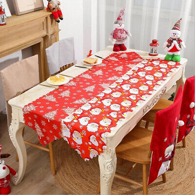AU6.58 • Buy Christmas Table Runner Cover Cloth Xmas Dining Tablecloth Party Decor FA