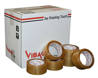 £65.80 • Buy Vibac Clear No Noise Polypropylene Adhesive Tape 48mm X 66m Qty 36