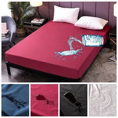 AU32.99 • Buy Waterproof Fitted Sheet Single/Double/Queen/King Size Bedding Mattress Protector